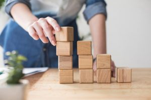 stacking wood blocks