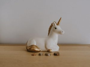 unicorn with coins